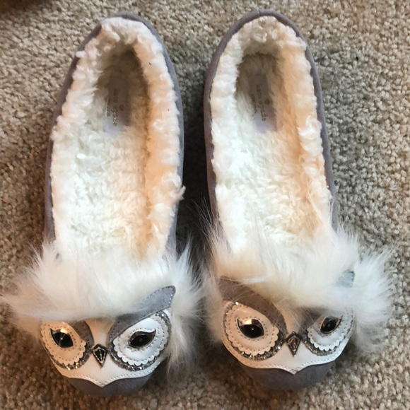 "6ad5f5496508 New! Kate Spade Samantha "" Owl"" Slippers-7"